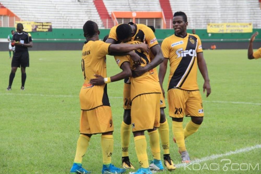 Côte d'Ivoire: 18ème journée de Ligue 1, 14ème succès d'affilé de l'Asec Mimosas, le Sporting Gagnoa ne là¢che pas, l'Africa Sport et l'Afad s'accrochent