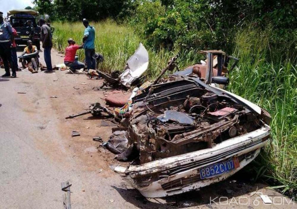 Côte d'Ivoire: Tiébissou, un grave accident de la circulation ôte la vie à six passagers