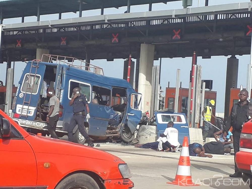 Côte d'Ivoire: Un minicar percute violemment un pilier du pont HKB, de nombreux blessés signalés