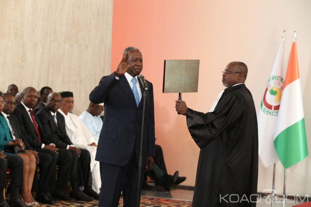 Côte d'Ivoire: Médiateur de la république, Adama Toungara a prêté serment en présence de Ouattara et des autres présidents d'institutions