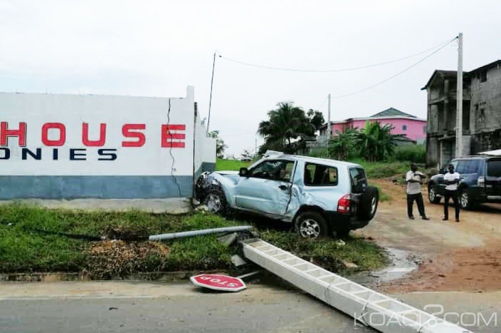 Côte d'Ivoire: Un 4*4 percute un poteau électrique et coupe le courant dans une zone de Cocody