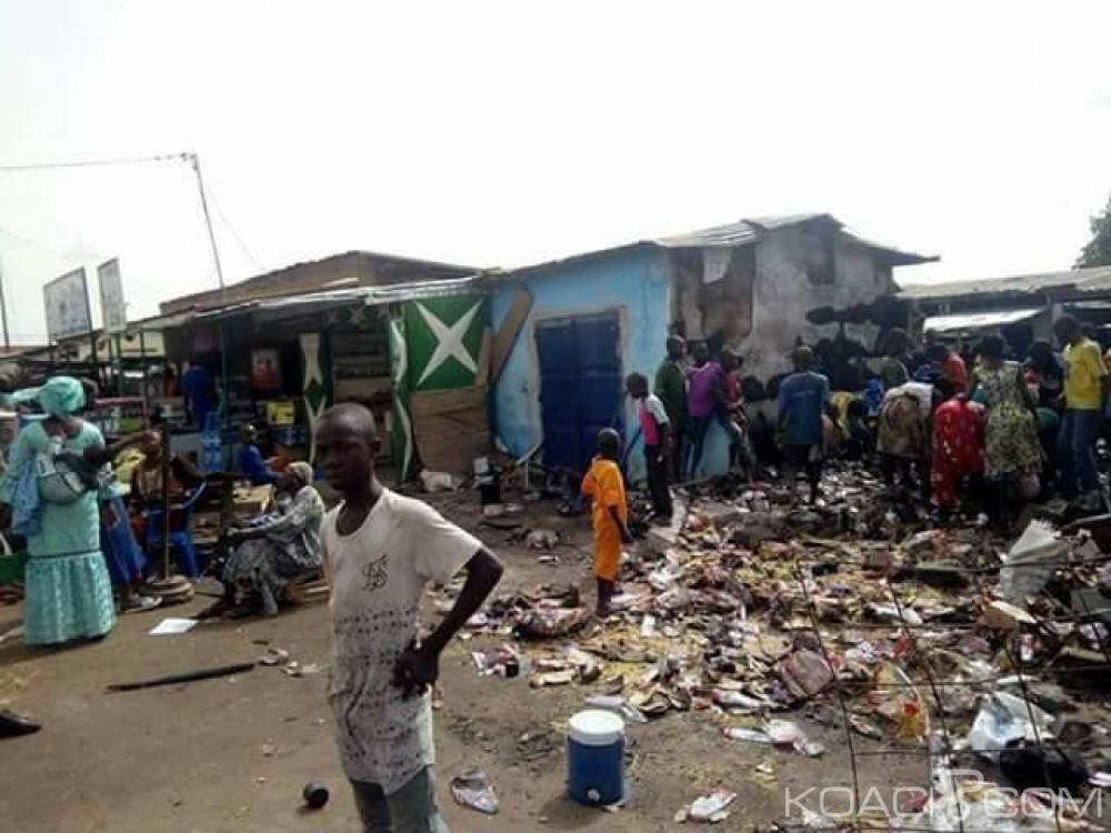 Côte d'Ivoire: Bouna, une partie du marché central a pris feu ce matin