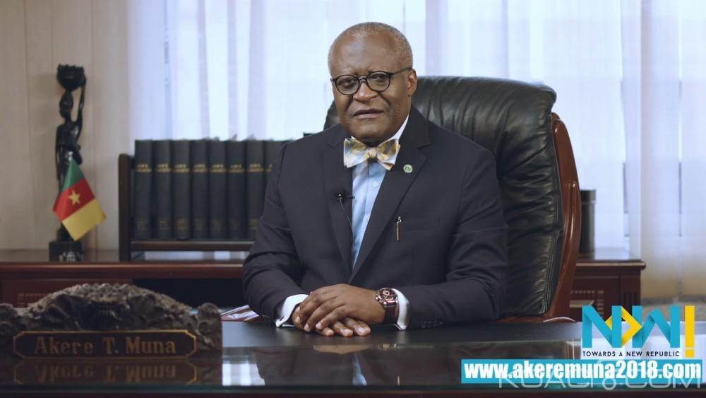 Cameroun: Présidentielle 2018, l'opposant Akere Muna investi par le FPD