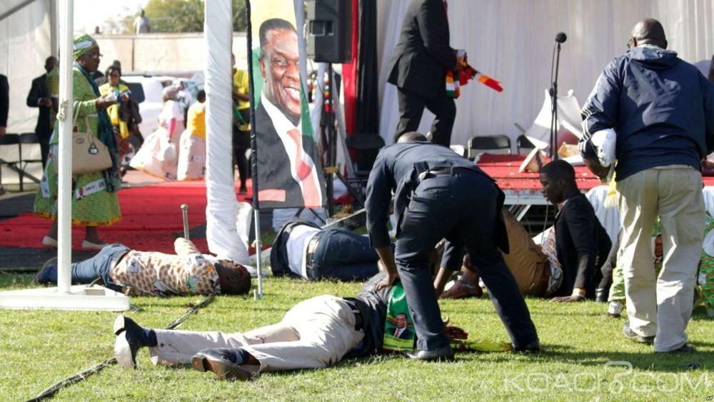 Zimbabwe:  Le Président Mnangagwa sort indemne d'un attentat à la bombe