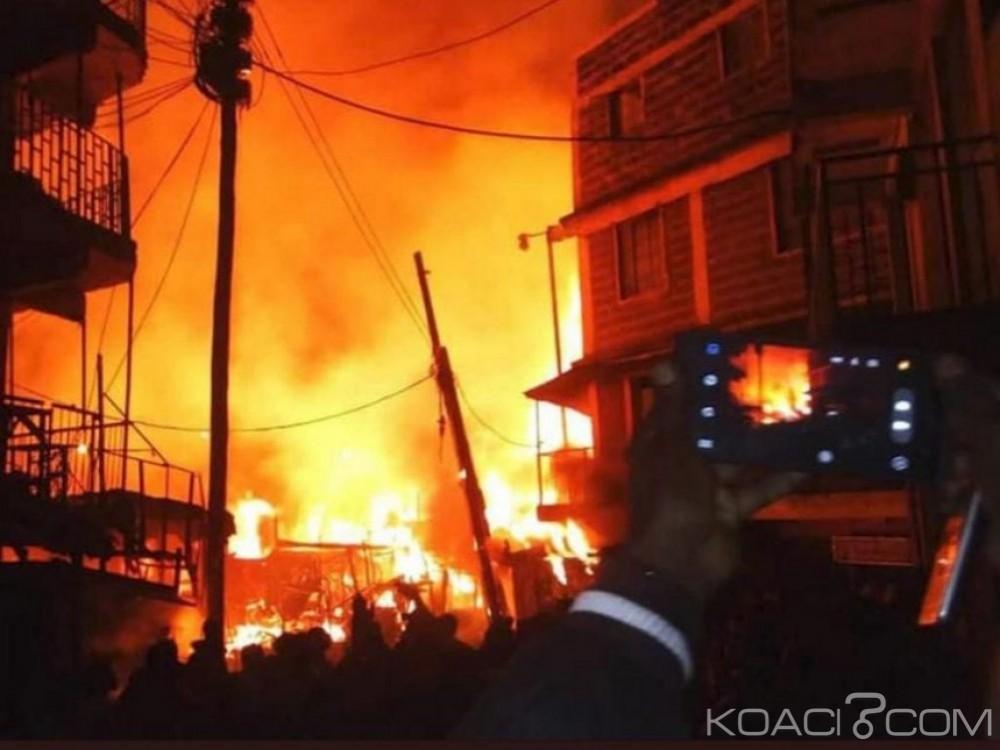 Kenya: Un incendie ravage le grand marché de Gikomba, 15 morts et plus de 70 blessés