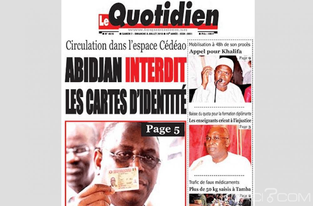 Cedeao: La décision d'Abidjan de durcir les conditions d'entrée sur son territoire dénoncée par un journal à Dakar