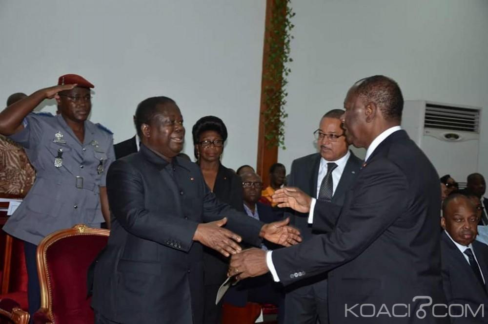 Côte d'Ivoire: 24h après la formation du nouveau gouvernement, Bédié  et Ouattara se rencontrent à une cérémonie