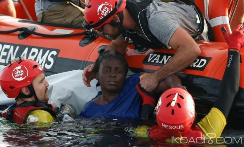 Libye: Naufrage d'émigrants au large, une miraculée, deux morts