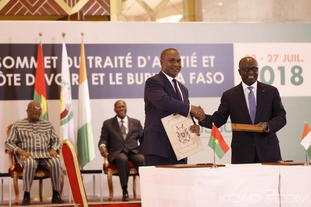 Côte d'Ivoire-Burkina: 8ème session du TAC, 4 accords bilatéraux signés entre Abidjan et Ouaga sur 7 initialement annoncés