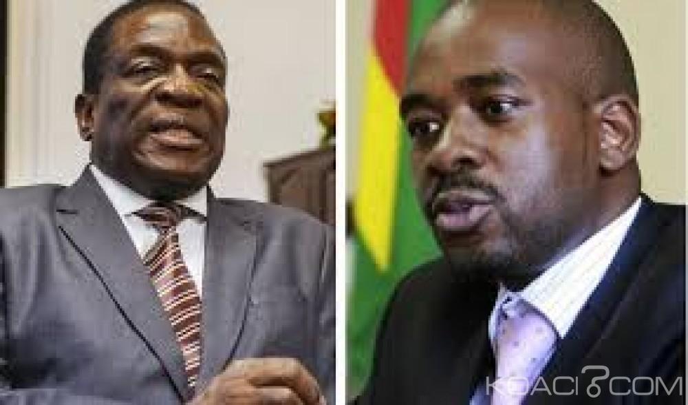 Zimbabwe: Suspens après la présidentielle, Chamisa et Mnangagwa se félicitent de leur «victoire»