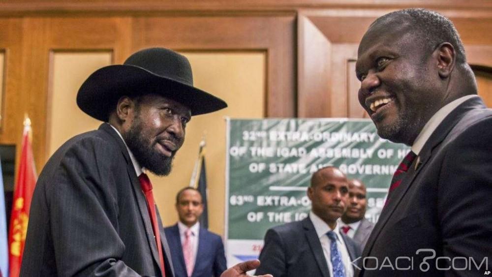 Soudan du Sud:  A Khartoum, Salva Kiir et son rival Riek Machar s'entendent sur le partage du pouvoir