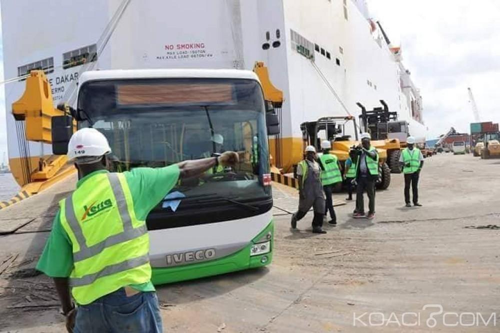 Côte d'Ivoire:  Vingt autobus de la Sotra débarquent au Port autonome d'Abidjan sur les 500 annoncés