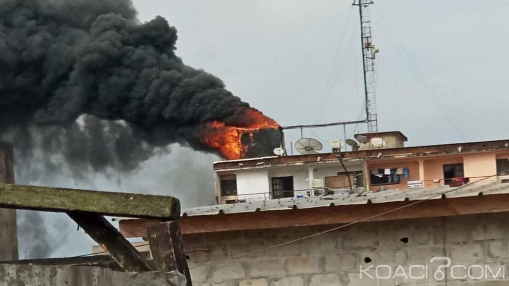 Côte d'Ivoire: Abobo, un immeuble R+3 échappe à un incendie non loin du carrefour menuiserie
