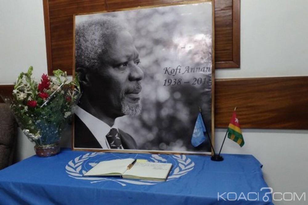 Togo: Hommages à Kofi Annan au SNU à Lomé