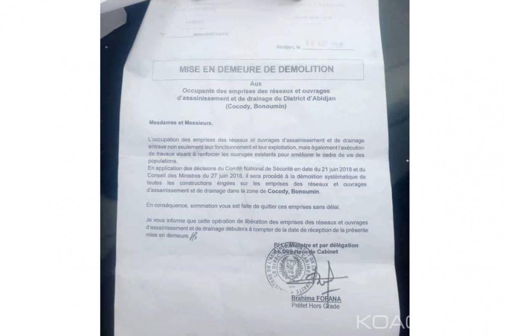 Côte d'Ivoire: Un préfet hors grade somme les habitants de Cocody Bonoumin de quitter la zone sans sommation