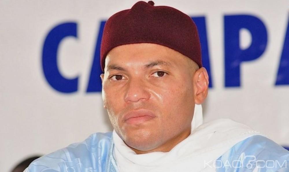 Sénégal: Karim Wade accuse le président de la Cour suprême d'être «Âsoumis aux ordres deMacky Sall»