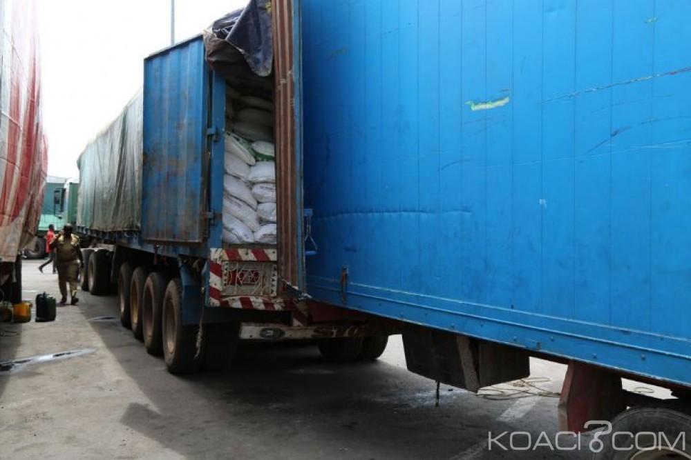 Côte d'Ivoire : Une importante saisie de sucre déclaré en transit pour le Mali, la pratique des fraudeurs dévoilée