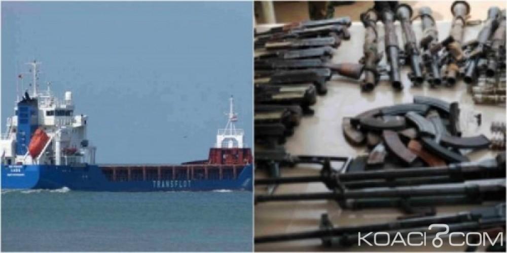 Afrique du Sud :  Le  cargo russe transportant  des armes et des explosifs libéré
