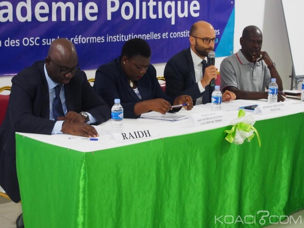 Côte d'Ivoire : La société civile se concerte sur la connaissance des réformes institutionnelles et constitutionnelles