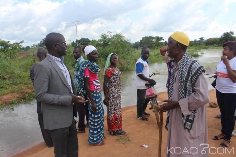 Côte d'ivoire : Bouaflé, les victimes de la crue du fleuve Bandaman reçoivent la compassion du gouvernement