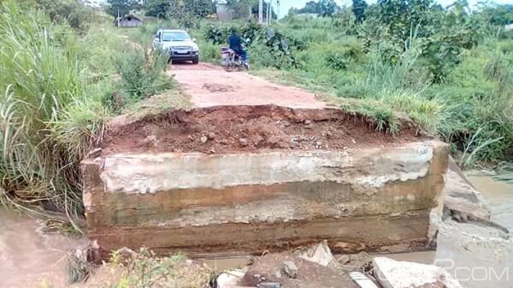 Côte d'Ivoire : Gbêkê, le village d'un maire séparé de la ville, le pont, servant de passage, englouti sous l'eau