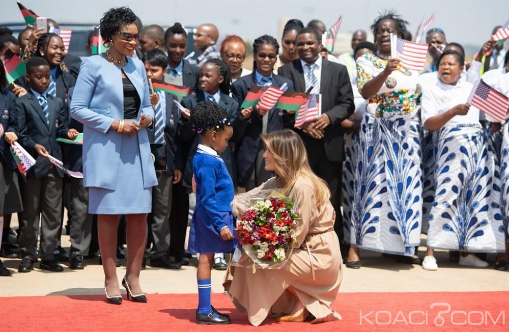 Malawi:  Melania poursuit  sa tournée africaine,  Donald Trump  la félicite depuis la maison blanche