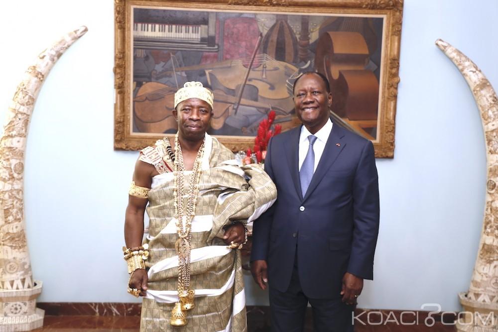Côte d'Ivoire :  Après la reine de baoulés, Ouattara reçoit le roi de Tiapoum