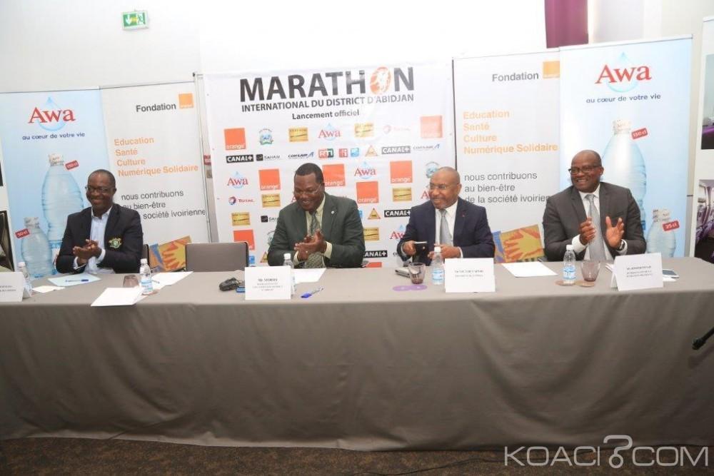 Côte d'Ivoire : Lancement de la 4ème édition du marathon international du district d'Abidjan