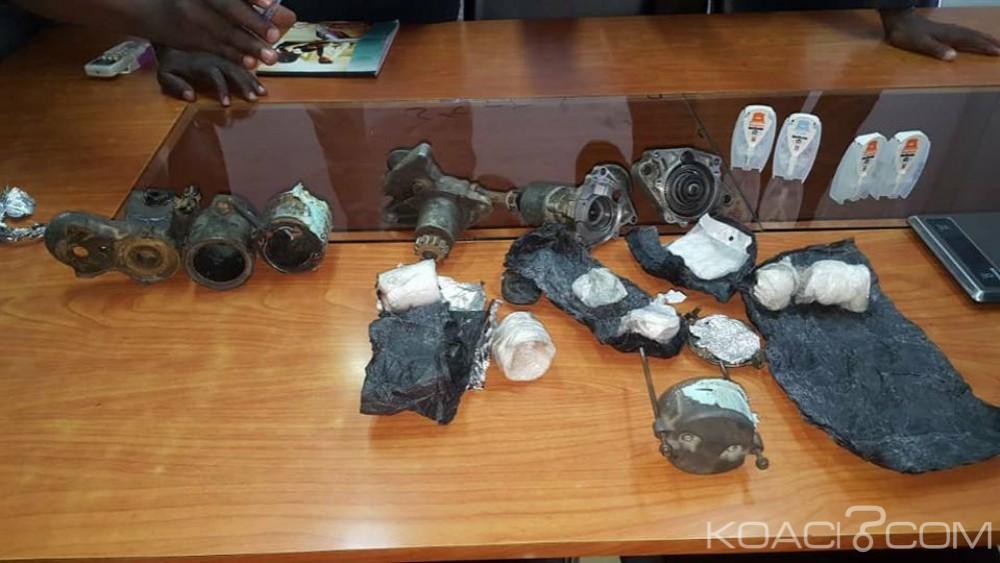 Côte d'Ivoire : De la drogue disséminée dans des pièces détachées de véhicules saisie à l'aéroport d'Abidjan