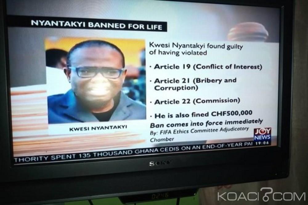 Ghana : Football, la FIFA suspend Kwesi Nyantakyi à vie
