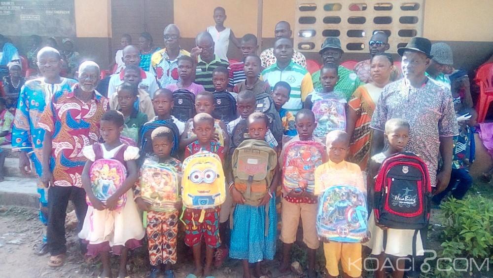 Côte d'Ivoire : Promesses non tenues de distribution gratuite de kits par le gouvernement, une association de jeunes,vole au secours des écoliers d'un village