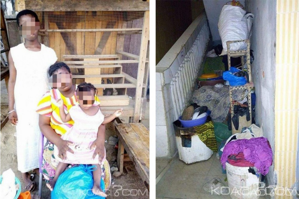 Côte d'Ivoire: Abandonnée par son mari avec ses six enfants, une femme vit dans une cage d'escalier à Koumassi