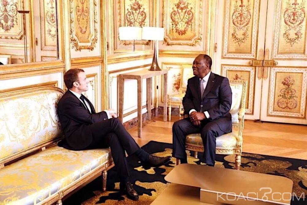 Côte d'Ivoire-France : Ouattara a échangé avec Macron et affirmé qu'il n'y avait pas de crispation politique au pays
