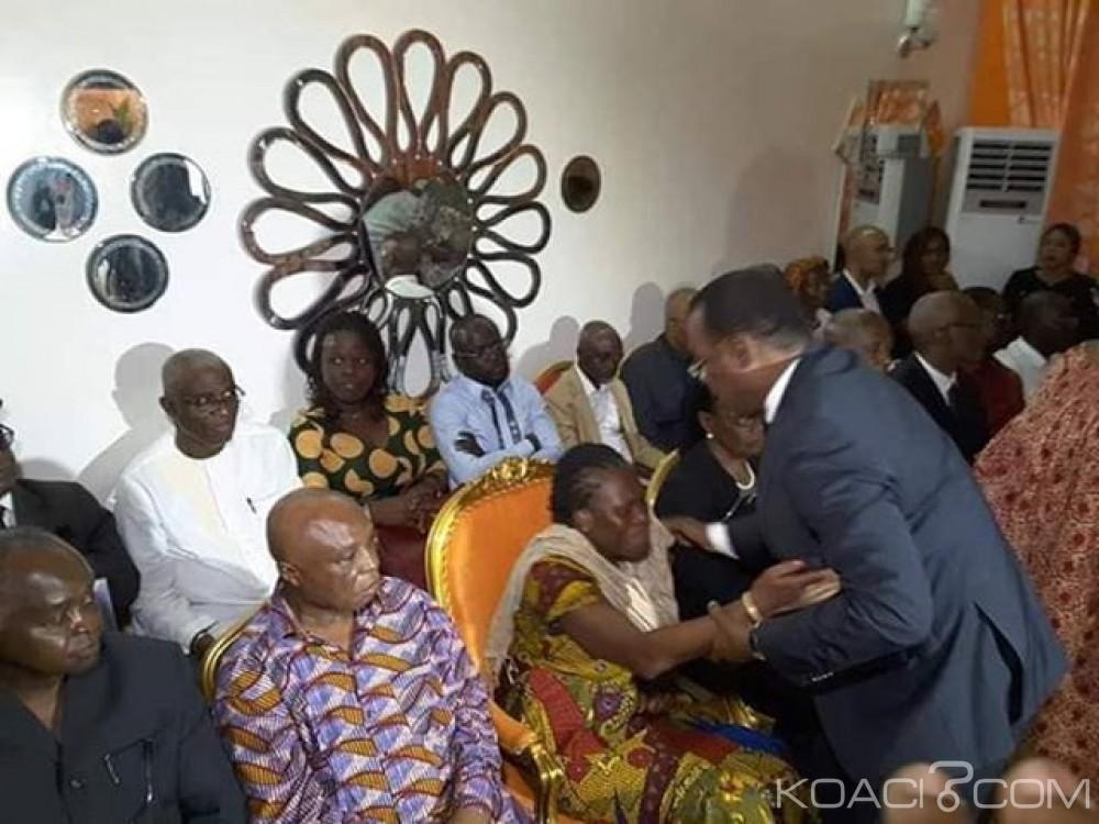 Côte d'Ivoire : Affi N'Guessan chez Sangaré après le décès de ce dernier, des accolades avec Simone