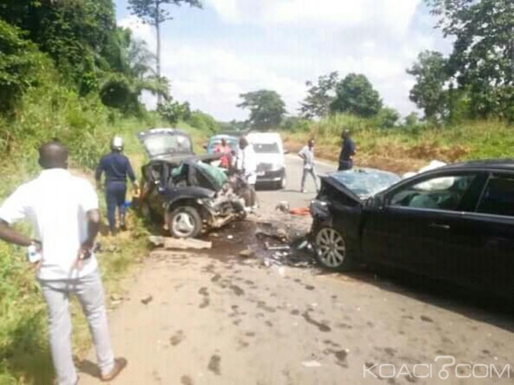 Côte d'Ivoire : Drame sur l'axe Djebonoua-Tiébissou,  une collision entre deux véhicules fait plusieurs morts