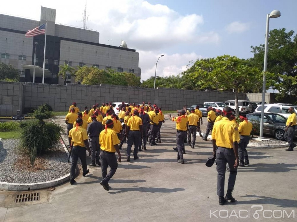 Côte d'Ivoire : Mouvement d'humeur des agents de sécurité de l'ambassade des États-Unis à Abidjan