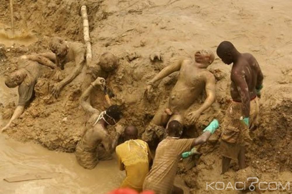 Côte d'Ivoire : Deux orpailleurs clandestins trouvent la mort  suite à un éboulement dans une mine d'or au centre du pays