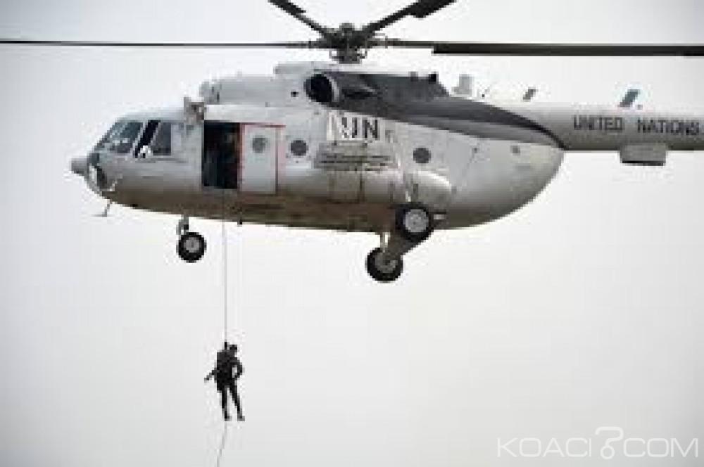 RDC:  Un hélicoptère de la MONUSCO visé par des tirs de rebelles ougandais de l' ADF, aucune victime