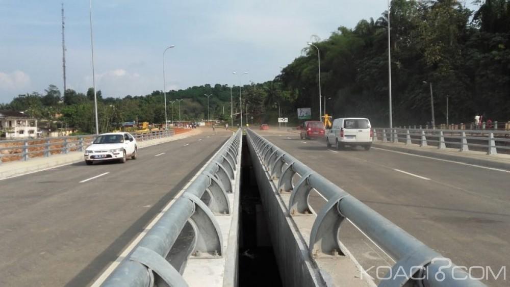 Côte d'Ivoire : Le nouveau pont construit sur le fleuve Bia à Aboisso ouvert à la circulation