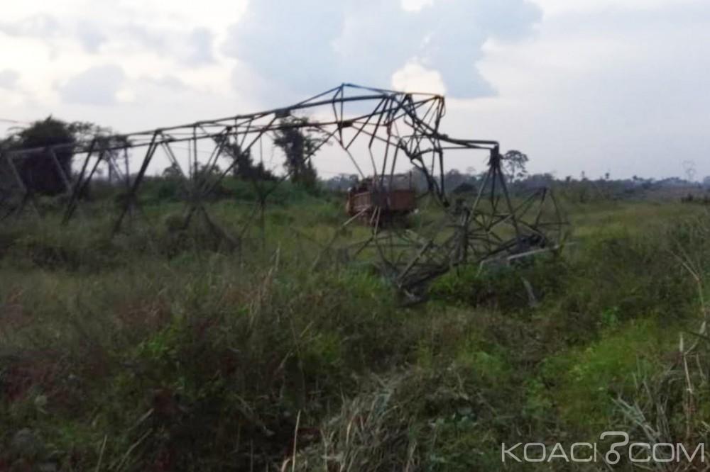 Côte d'Ivoire : Un camion percute un pylône HTB du tronçon Man-Danané, perturbation de distribution du courant dans le Grand ouest