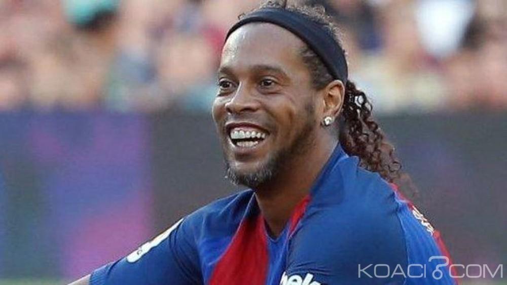 Côte d'Ivoire : Victime d'un petit malaise à Barcelone, Ronaldinho  repousse d'un jour son arrivée à Abidjan
