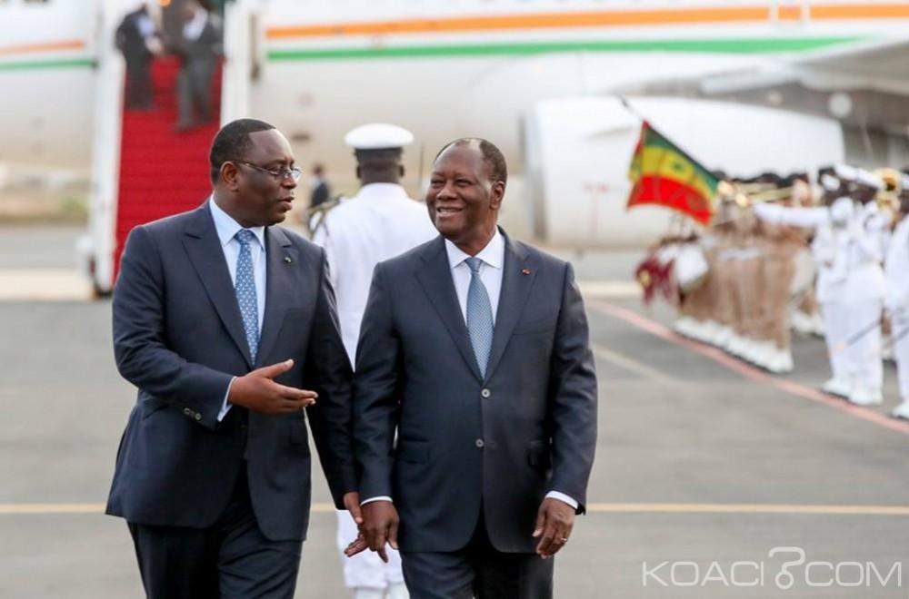 Sénégal-Côte d'Ivoire: À Dakar, Ouattara marque son soutien à Sall pour la Présidentielle et s'attire les foudres de Sénégalais