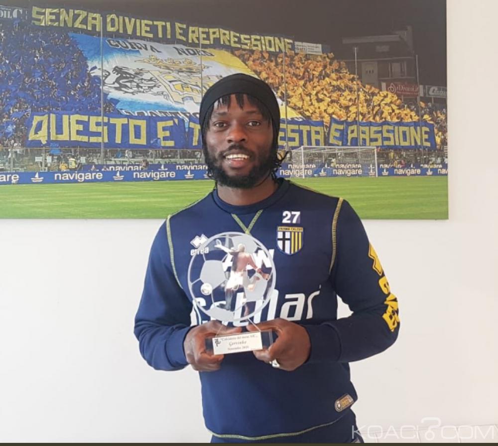 Côte d'Ivoire : Gervinho meilleur joueur du championnat Italien pour le mois de novembre