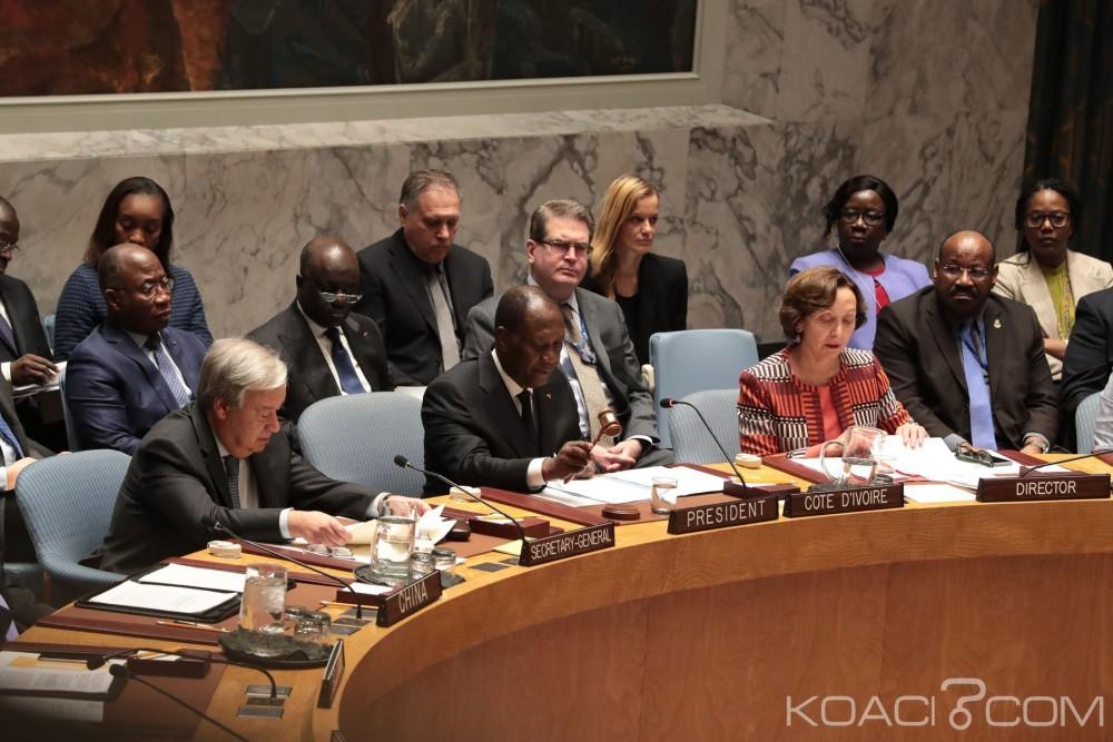 Côte d'Ivoire : Au conseil de sécurité de l'ONU Ouattara rappelle le rôle déterminant de Choi et de l'Onuci