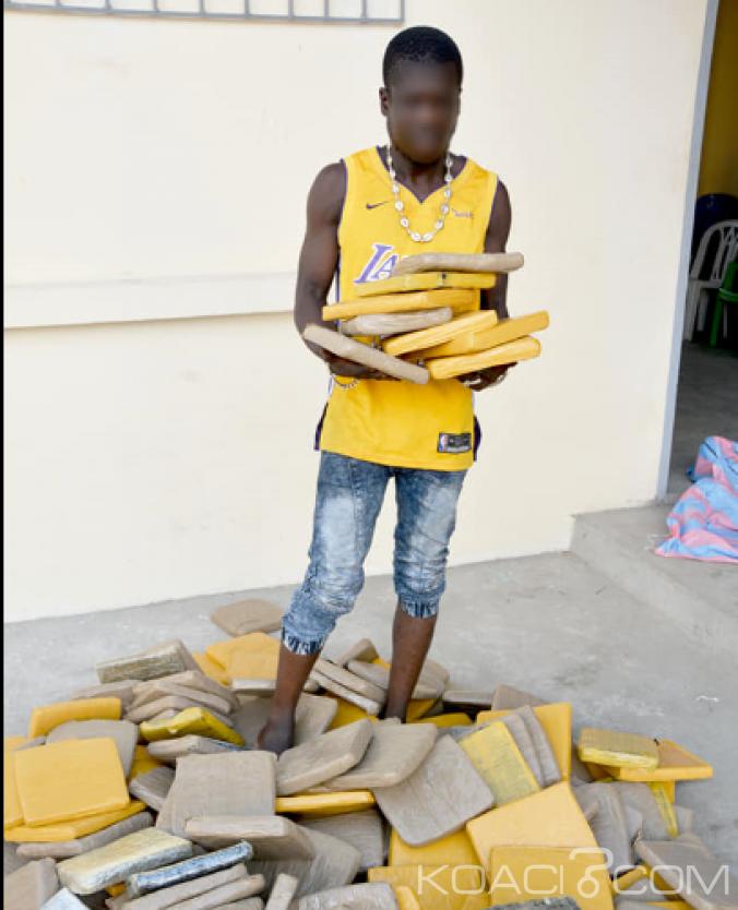 Côte d'Ivoire : Le  gérant du fumoir  Marcory-Anoumabo interpellé,  202 blocs de cannabis saisis