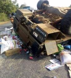 Côte d'Ivoire : Un cargo des FACI en partance pour Séguéla se renverse, un mort